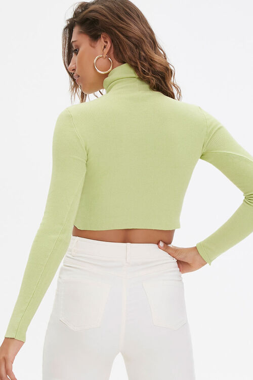 Cropped Turtleneck Sweater, image 3