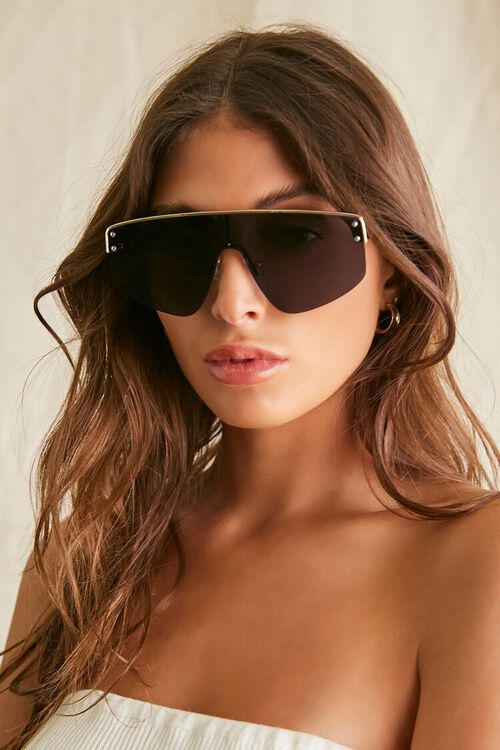 Bar-Accent Shield Sunglasses, image 1