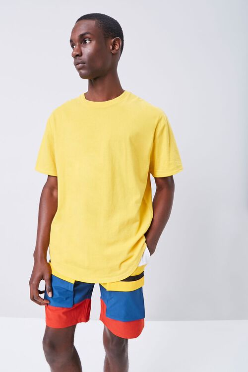 Colorblock Drawstring Shorts, image 1