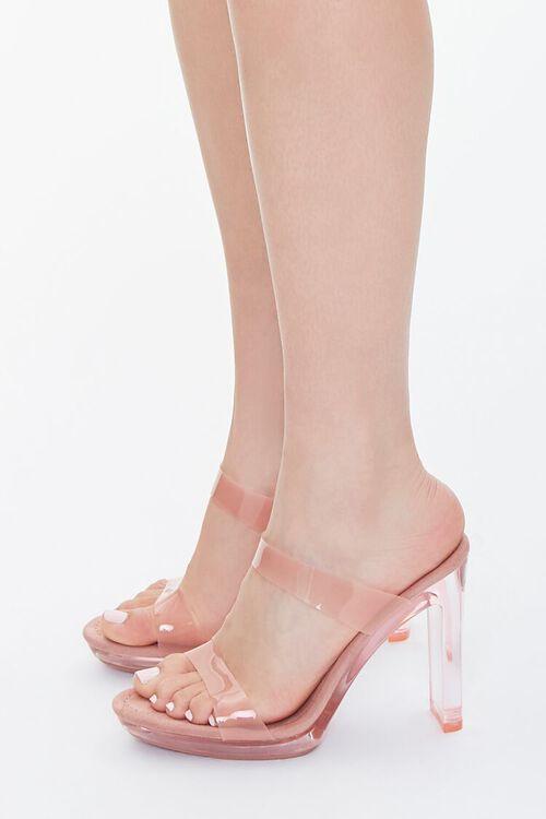 Semi-Translucent Lucite Block Heels, image 2
