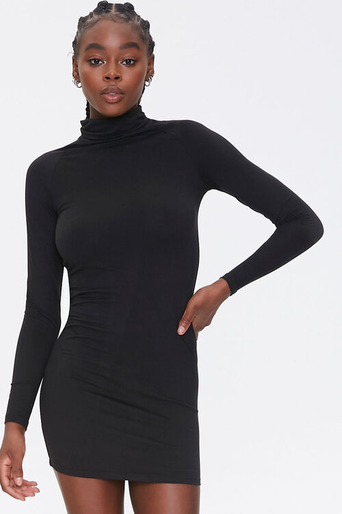 Turtleneck Bodycon Dress, image 1