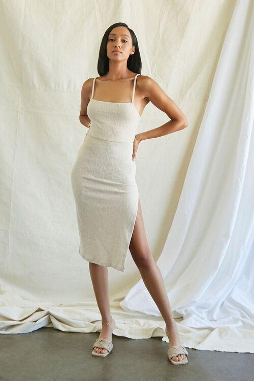 TAUPE Lace-Back Cami Dress, image 4