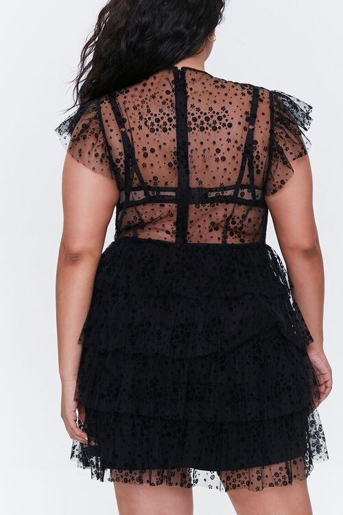 Plus Size Mesh Ruffle-Trim Dress, image 3
