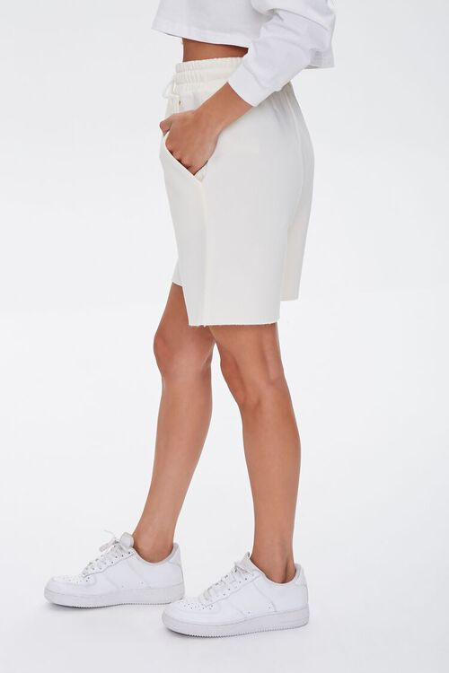 Basic Raw-Cut Drawstring Shorts, image 3