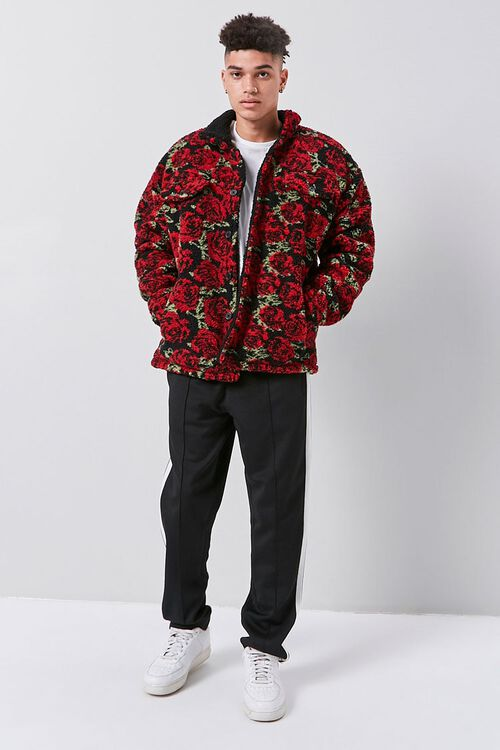 Faux Shearling Rose Print Jacket, image 4