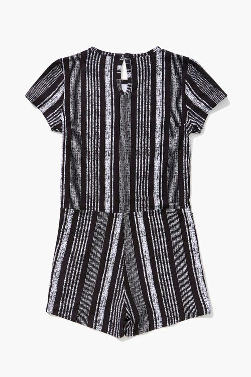 Girls Striped Knotted Romper (Kids), image 2