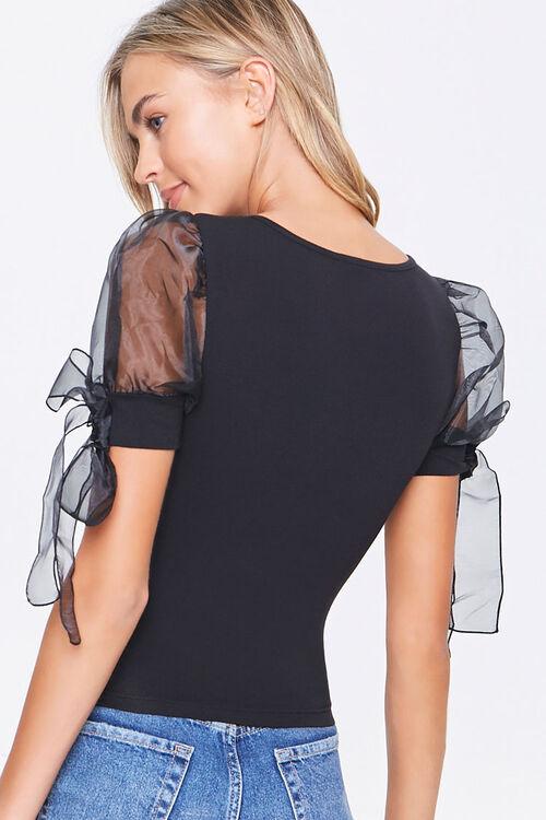 Self-Tie Puff Sleeve Top, image 3
