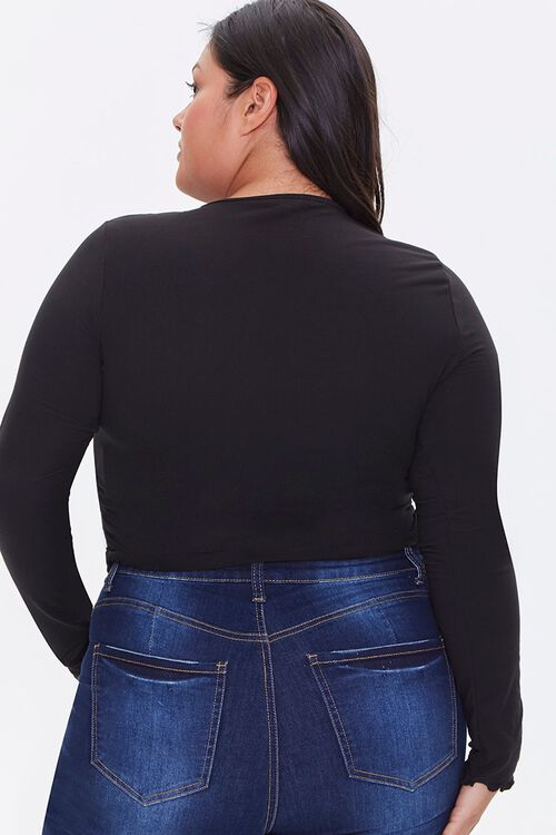 Plus Size Brushed Ruched Top, image 3