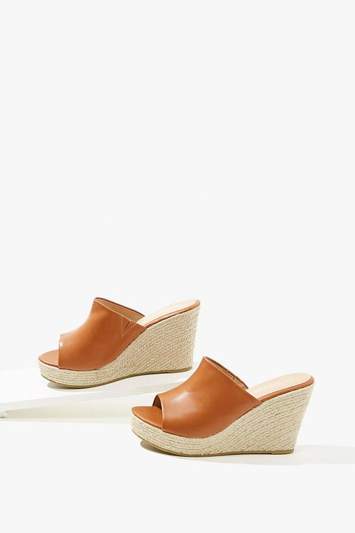 Faux Leather Espadrille Wedges, image 3