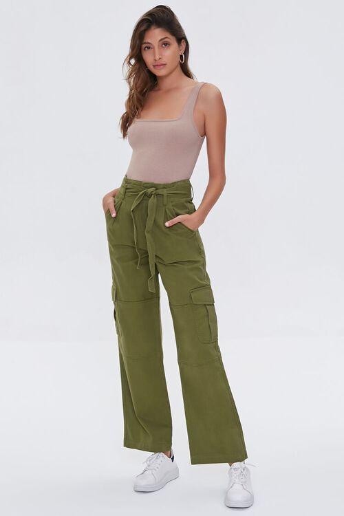 Tie-Belt Cargo Pants, image 1