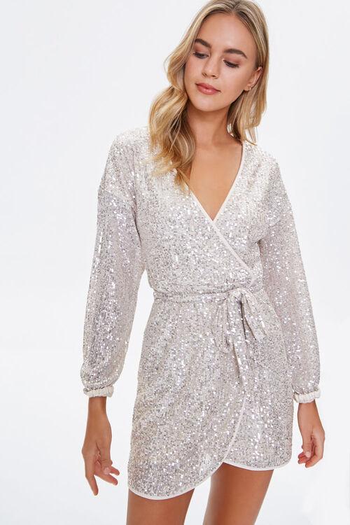 Glittered Wrap Dress, image 1