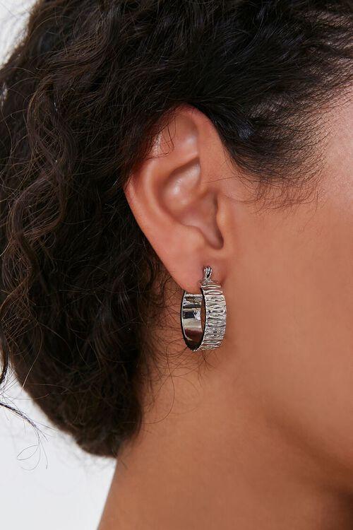 Ridged Hoop Earrings, image 1