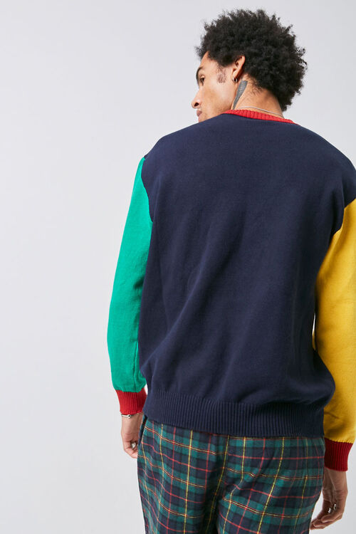 Colorblock Ribbed Sweater, image 3