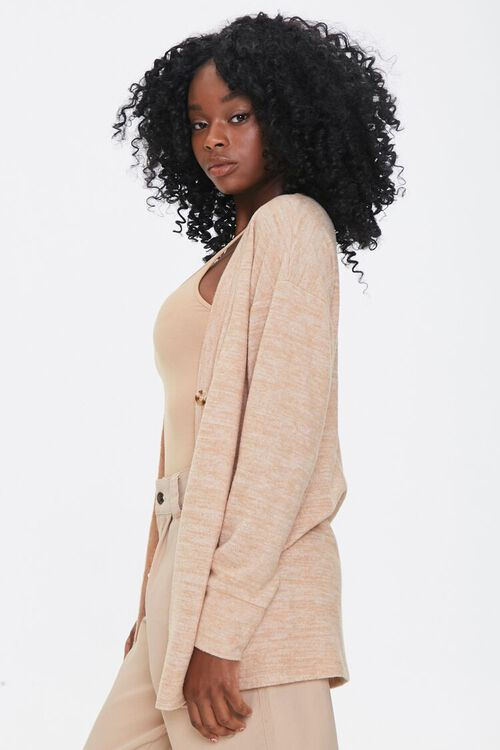 Heathered Knit Cardigan Sweater, image 2