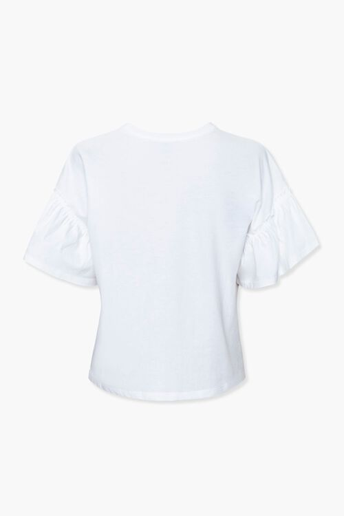 Ruffle-Trim Face Graphic Tee, image 2