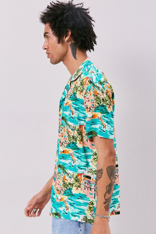 Classic Fit Tropical Print Shirt, image 2