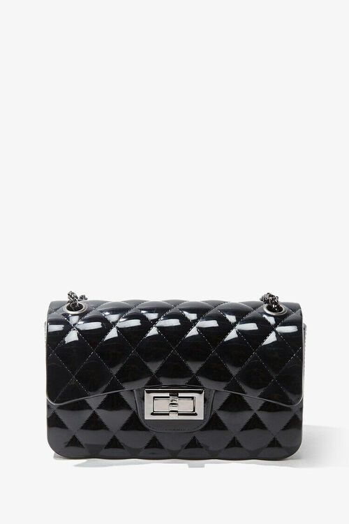BLACK Mini Quilted Crossbody Bag, image 3