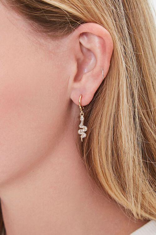 Snake Charm Hoop Earrings, image 1
