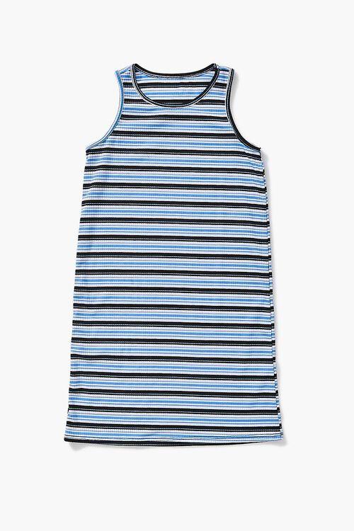 BLUE/MULTI Girls Striped Tank Dress (Kids), image 1