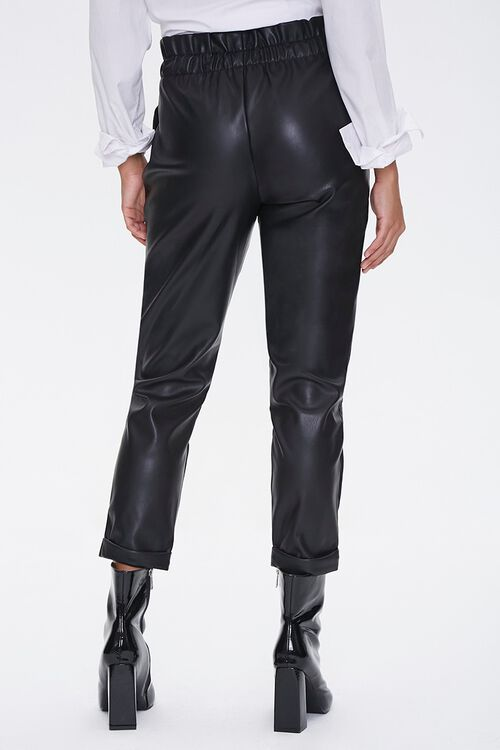 Faux Leather Paperbag Pants, image 4