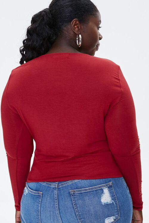 Plus Size Surplice Top, image 3