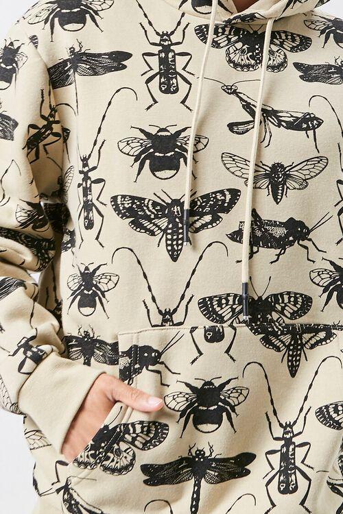 Insect Print Fleece Hoodie, image 5