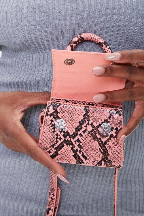 Faux Snakeskin Mini Crossbody Bag, image 3