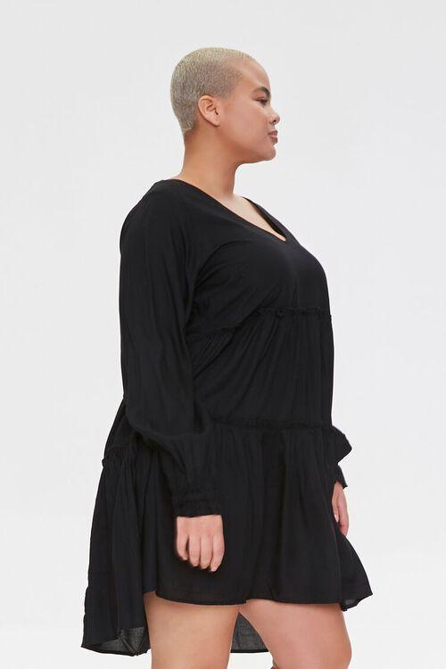 Plus Size Flowy Tiered Peasant Dress, image 2
