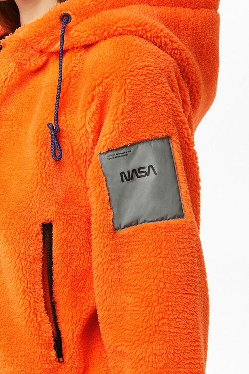 NASA Hooded Faux Fur Jacket, image 6