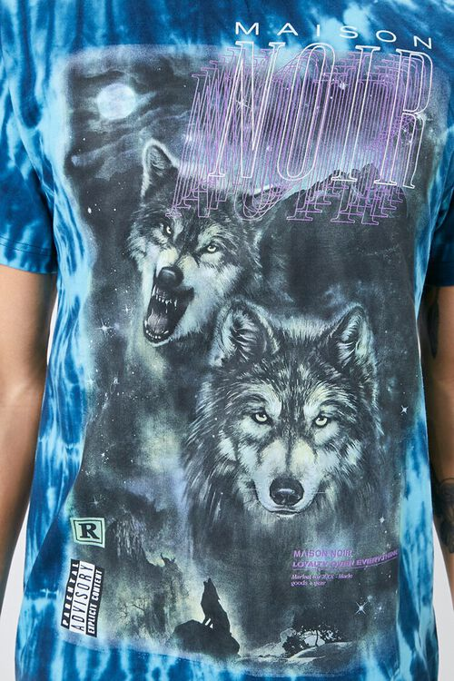 Tie-Dye Wolf Graphic Tee, image 5