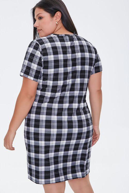 Plus Size Gingham T-Shirt Dress, image 3