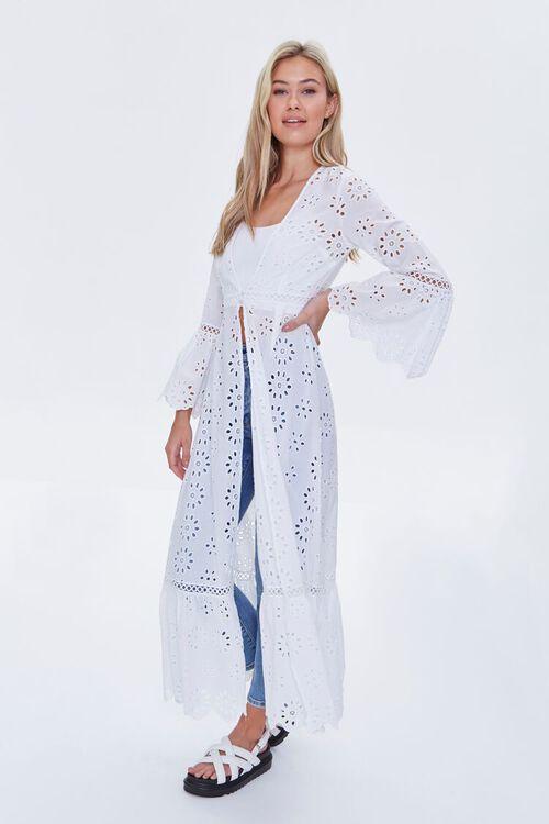 Bell-Sleeve Eyelet Kimono, image 3