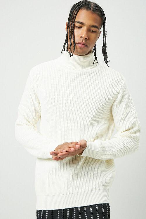 Ribbed Turtleneck Sweater, image 1