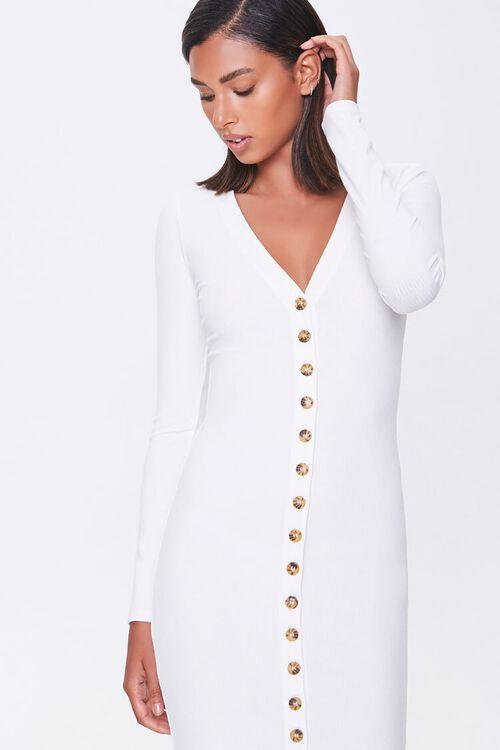 Button-Front Midi Dress, image 5