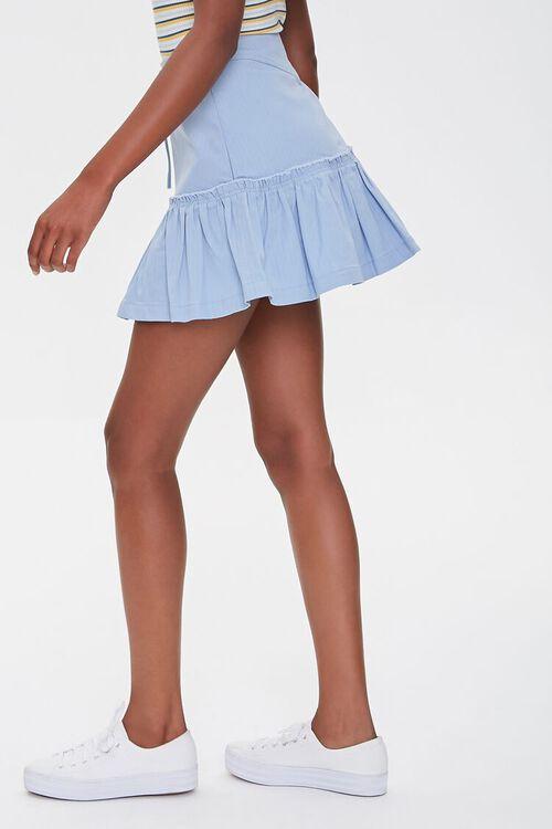 Lace-Up Flounce-Trim Skirt, image 3