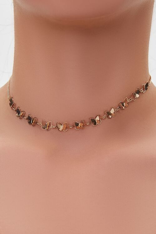 GOLD Butterfly Choker Necklace, image 1