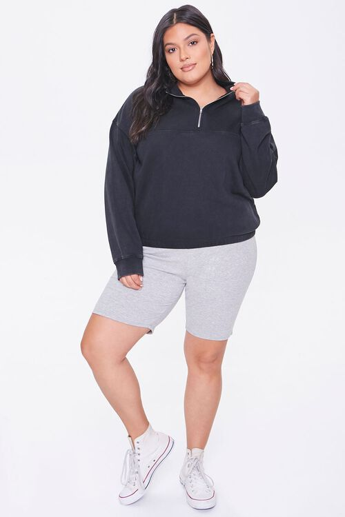 Plus Size Fleece Half-Zip Pullover, image 4