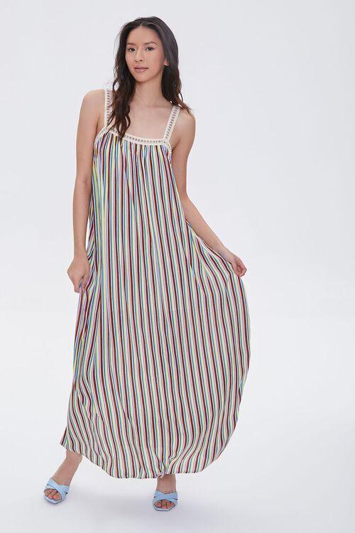Striped Crochet-Trim Dress, image 2