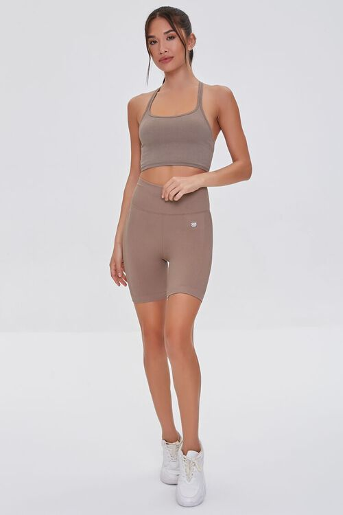 TAUPE Seamless Caged Sports Bra, image 4