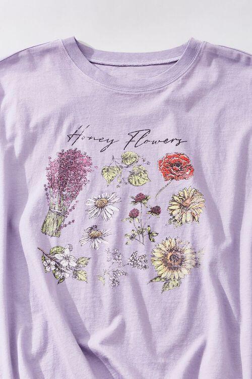 LAVENDER/MULTI Honey Flowers Graphic Tee, image 3