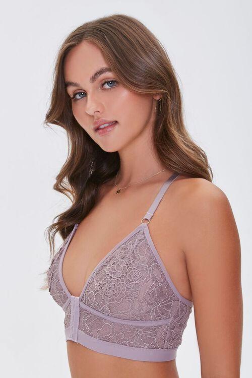 MINK Floral Lace Hook-Front Bralette, image 2