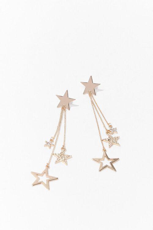 Rhinestone Star Drop Earrings, image 2
