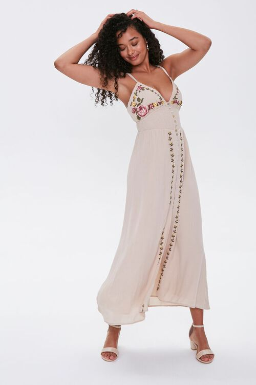 Floral Embroidered Maxi Dress, image 1