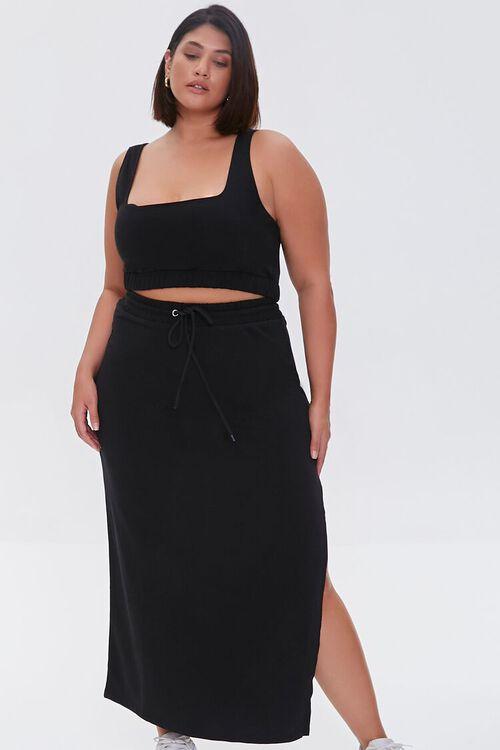 Plus Size Crop Top & Maxi Skirt Set, image 1