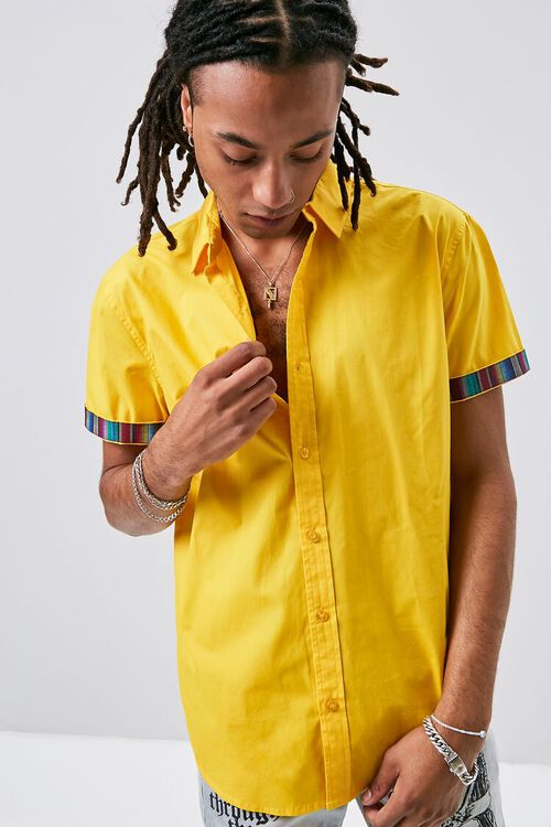 Striped-Trim Fitted Shirt, image 1