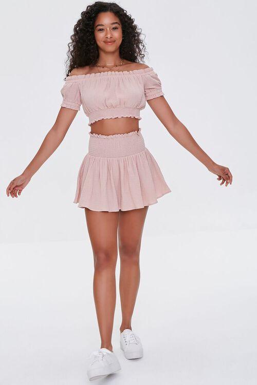 Smocked Mini Skirt, image 5