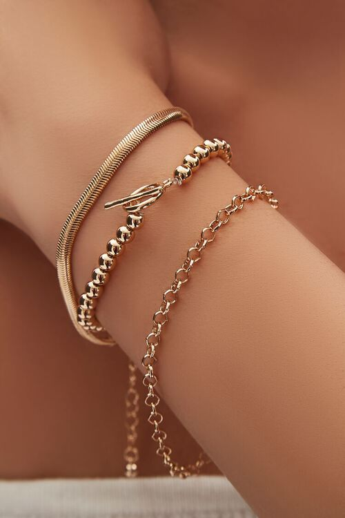 Ball Chain Bracelet Set, image 1