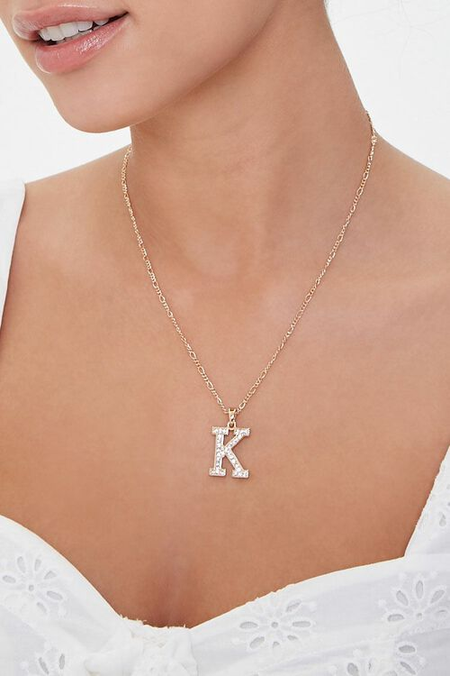 Initial Pendant Necklace, image 1