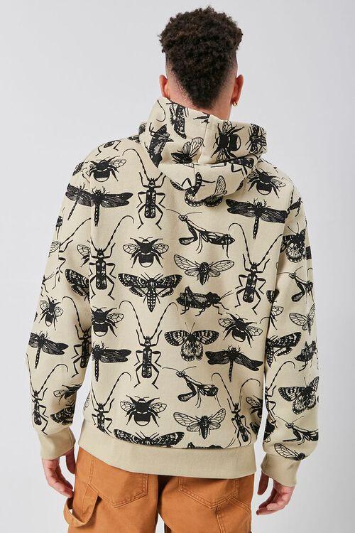 Insect Print Fleece Hoodie, image 3