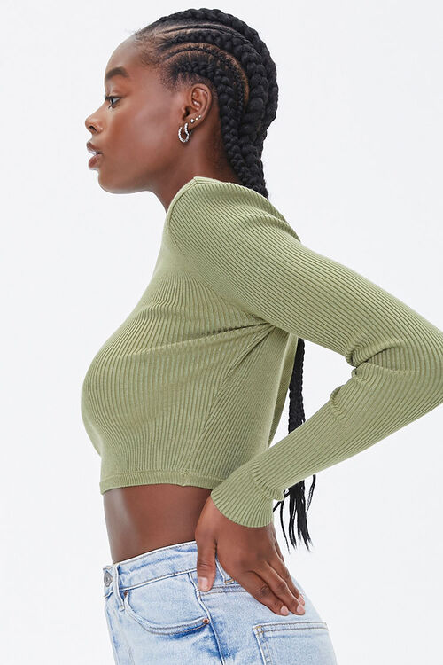 Shoulder-Pad Cropped Sweater, image 2